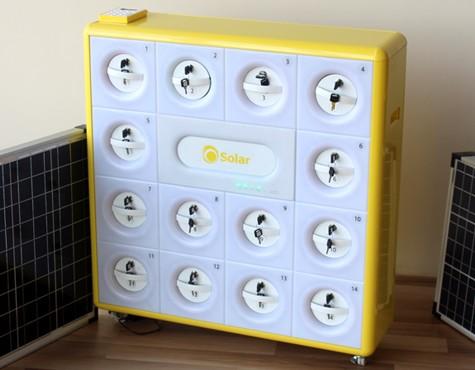 station de recharge solaire pour t l phone portable ref slw01 ricochet international. Black Bedroom Furniture Sets. Home Design Ideas